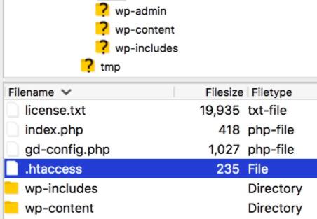 editing .htaccess file