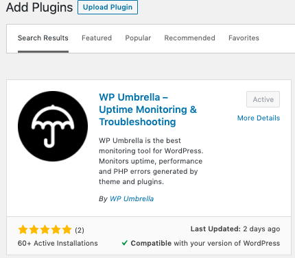 wp uptime plugin