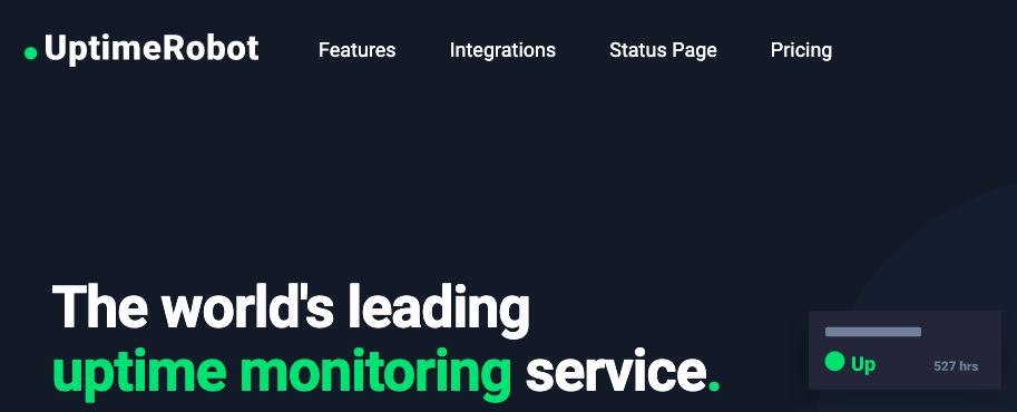 Uptime monitoring service