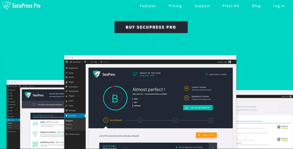 SecuPress Premium Security plugin for WordPress