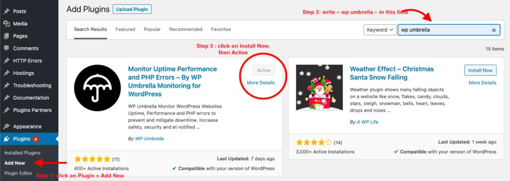 WP Umbrella on WordPress plugin directory