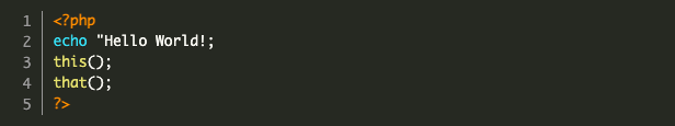 parse error php