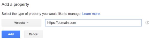 Add HTTPS URL in Google