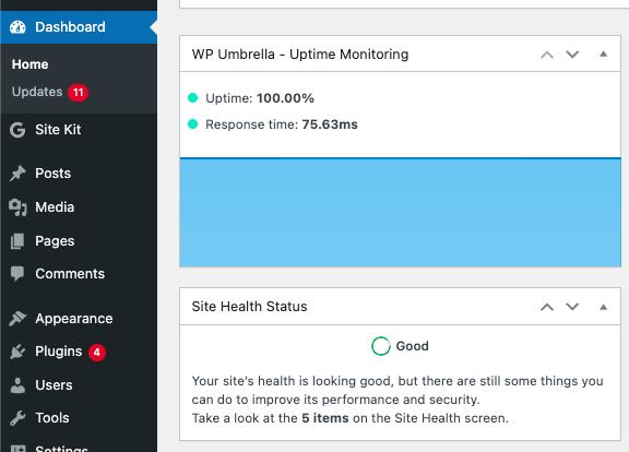 WP Umbrella widget for WordPress
